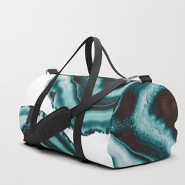 Turquoise Brown Agate #1 #gem #decor #art #society6 Duffle Bag