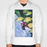 skiing Hoodies featuring Water Skiing by John Turck