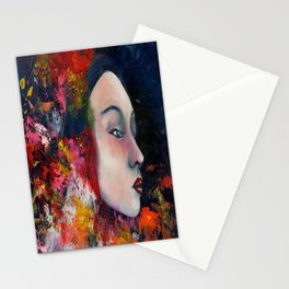 Soaked in red. Stationery Cards
