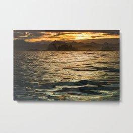 Gold Ocean Metal Print