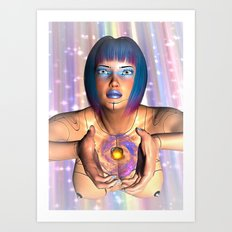 She Offers Gladly Art Print