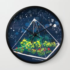 The Greenhouse at Night Wall Clock