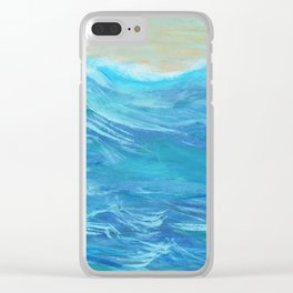 She brings the sea Clear iPhone Case