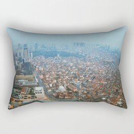 Istanbul at night .View from Sapphire skyscraper. Rectangular Pillow