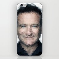 robin williams iPhone & iPod Skins featuring Robin Williams by lauramaahs