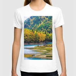 Asia autumn Kanas Lake forest Xinjiang China T-shirt