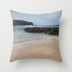 Sandwood Bay with Sea Stack Throw Pillow