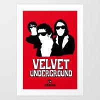 velvet underground Art Prints featuring VELVET UNDERGROUND R by zzglam