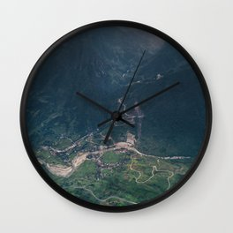 Mountainous town, Sa Pa, Vietnam Wall Clock
