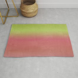 Watermelon Watercolor Ombre Abstract Rug