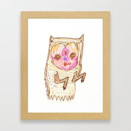 creepah ghost Framed Art Print