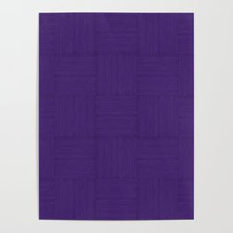 Indigo Purple Faux Bois Wood Pattern Poster