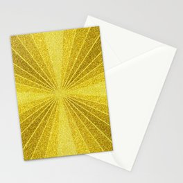 Gold geometry abstract glitter, sun rays geometric shapes Stationery Cards