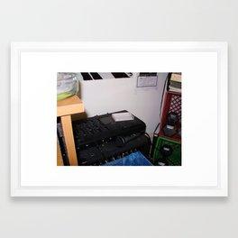 Simple Recording Setup Framed Art Print