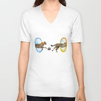 portal V-neck T-shirts featuring Portal by Anna Shell