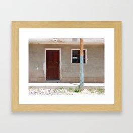 Bolivia door 6 Framed Art Print