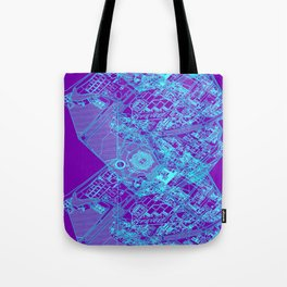 Superpose Map Two Tote Bag