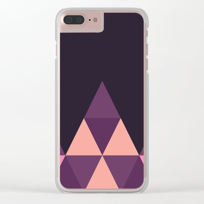 Geometric Pyramid Clear iPhone Case