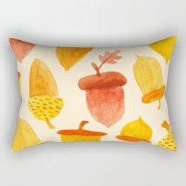 Acorns - Off White Rectangular Pillow