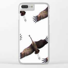 Cranes in flight #decor #society6 Clear iPhone Case