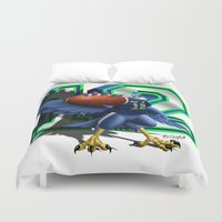 seahawks Duvet Covers featuring 12thMan by Dreamstate Design