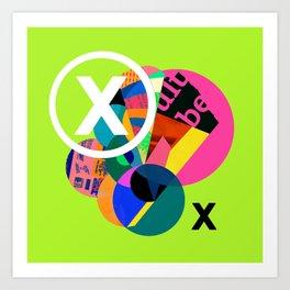 Crossed X Art Print