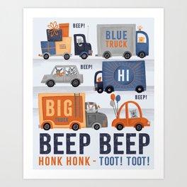 Cars & Trucks Art Print