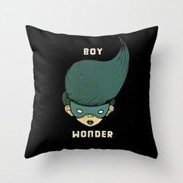Boy Wonder {Black.} Throw Pillow