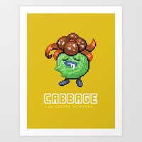 In memory of Cabbage Art Print