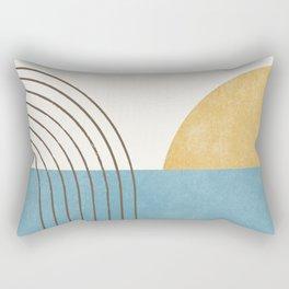 Sunny Ocean Horizon Rectangular Pillow