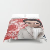 princess leia Duvet Covers featuring Leia by BellaG