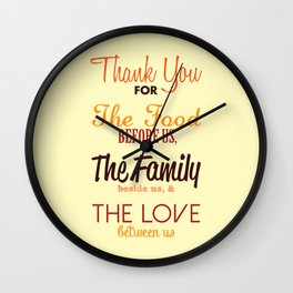 Thanksgiving Grace | Fall Colors Wall Clock