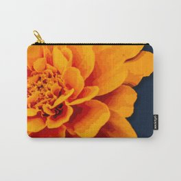 Marry Me Gold and Navy Marigold Carry-All Pouch