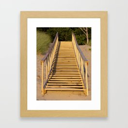 Save the Dunes - Use the Steps Framed Art Print