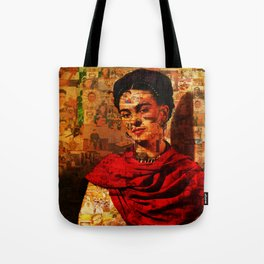 Kahlo Collage Tote Bag