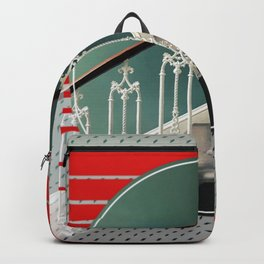 Stairway - red graphic Backpack