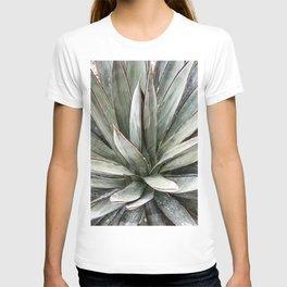 Succulents // Light Green Blue Cactus Plant Leaves Close Up Horizontal T-shirt