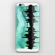 Mint Green London Skyline 2 iPhone & iPod Skin
