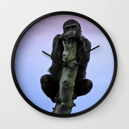 Lope The Gorilla At Sunset Wall Clock
