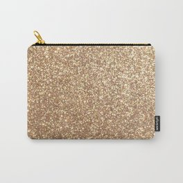 Copper Rose Gold Metallic Glitter Carry-All Pouch
