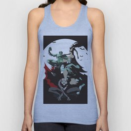 evil monsters group poster Unisex Tank Top