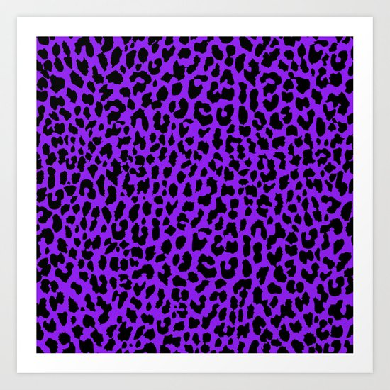 Neon Purple Leopard Art Print