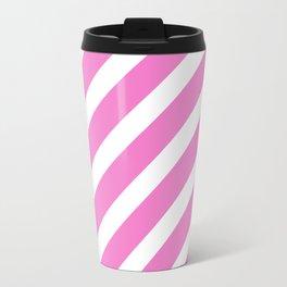 Basic Stripes Pink Travel Mug