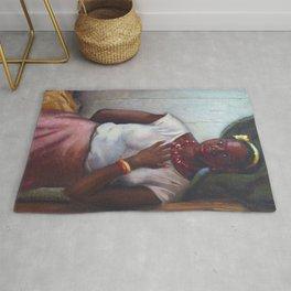 African American Masterpiece 'Katy, Queen of Tennessee' by Frank Stanley Herring Rug