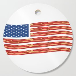 "When Bacon Is Love, Bacon Is Life ""American Flag Bacon"" T-shirt Design Food Breakfast Lunch Snack Cutting Board"
