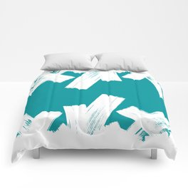 Viridian green/white crystall Comforters