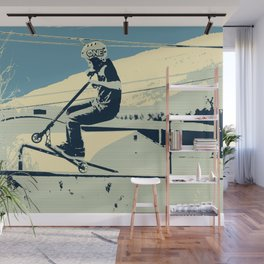 Getting Some Serious Air - Scooter Boy Wall Mural