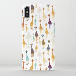 Giraffe of a different Color: white background iPhone Case
