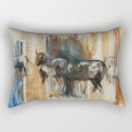 Ruidoso Wild Horses Rectangular Pillow