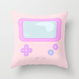 Pastel Game Boy Throw Pillow